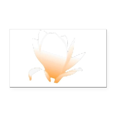 orange lotus flower Rectangle Car Magnet