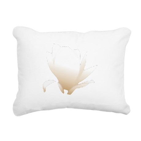 white lily flower Rectangular Canvas Pillow