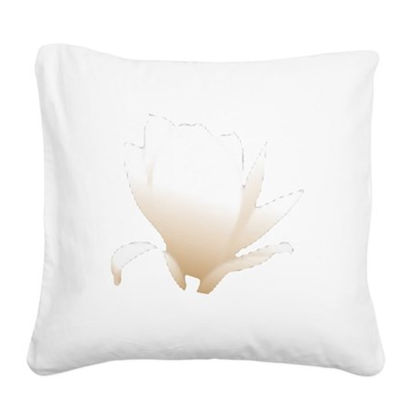 white lily flower Square Canvas Pillow