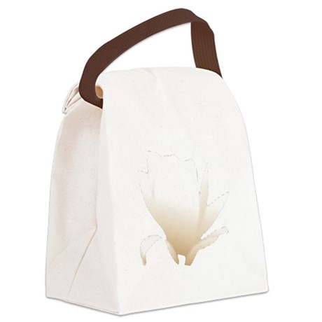 white lily flower Canvas Lunch Bag