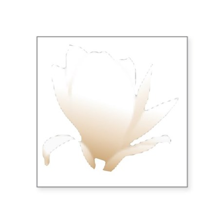 "white lily flower Square Sticker 3"" x 3"""