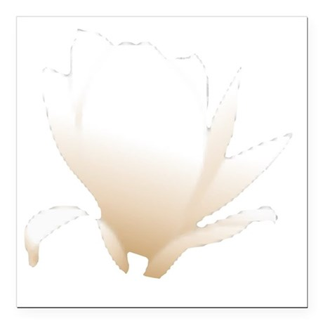 "white lily flower Square Car Magnet 3"" x 3"""