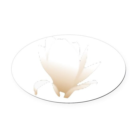 white lily flower Oval Car Magnet