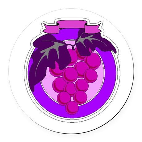 grapes Round Car Magnet