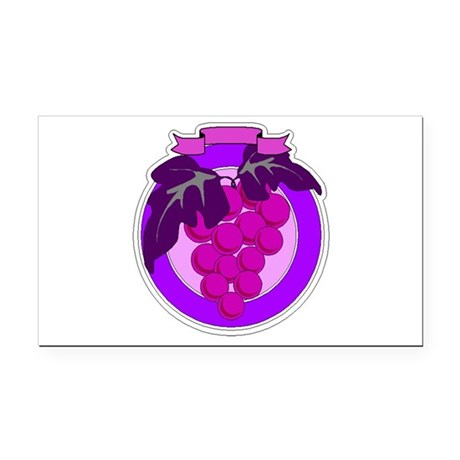 grapes Rectangle Car Magnet