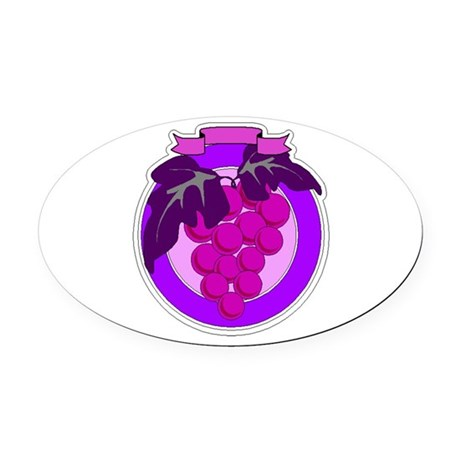 grapes Oval Car Magnet