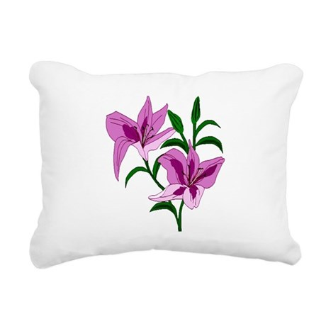 lilies Rectangular Canvas Pillow