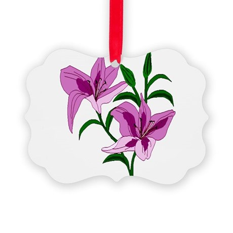 lilies Picture Ornament