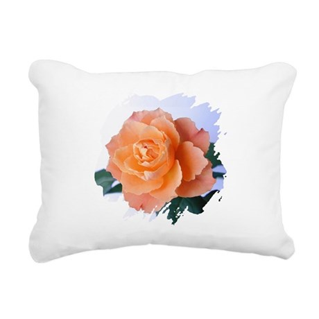 orange rose Rectangular Canvas Pillow