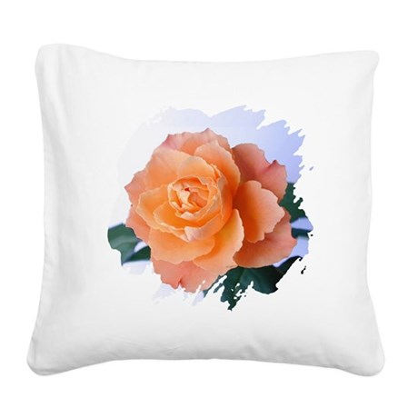 orange rose Square Canvas Pillow