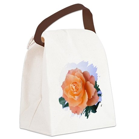 orange rose Canvas Lunch Bag