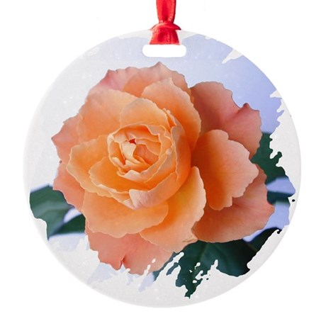 orange rose Round Ornament