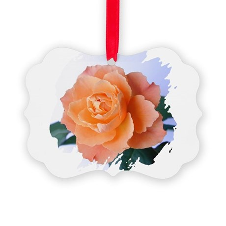 orange rose Picture Ornament
