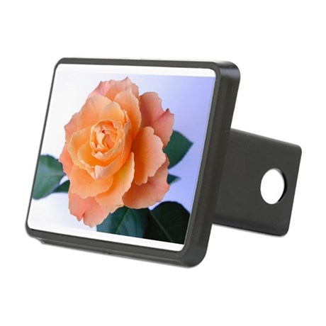 orange rose Rectangular Hitch Cover