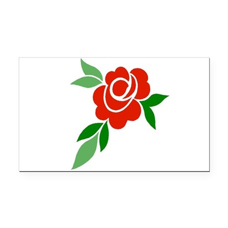 Red Rose Rectangle Car Magnet