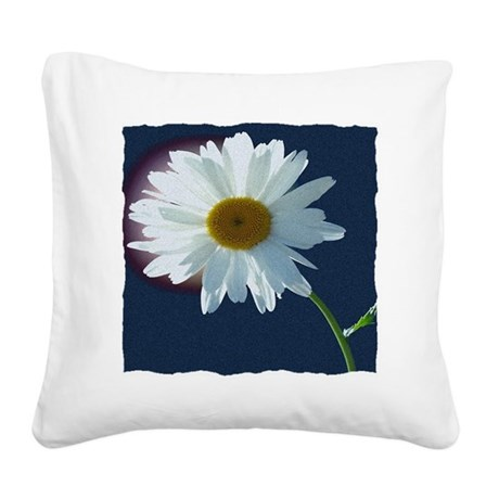 Daisy Square Canvas Pillow