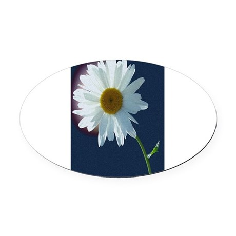 Daisy Oval Car Magnet