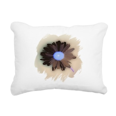 Country Daisy Rectangular Canvas Pillow