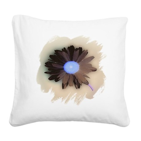 Country Daisy Square Canvas Pillow