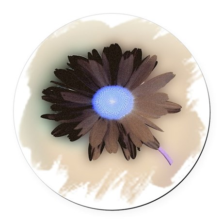 Country Daisy Round Car Magnet
