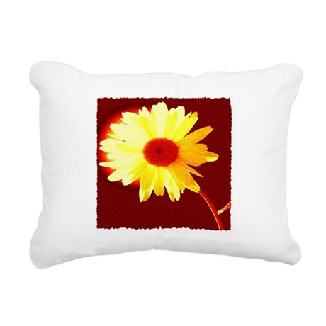 Hot Daisy Rectangular Canvas Pillow
