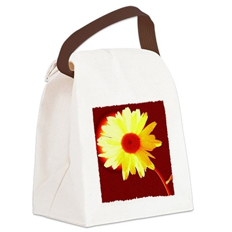 Hot Daisy Canvas Lunch Bag