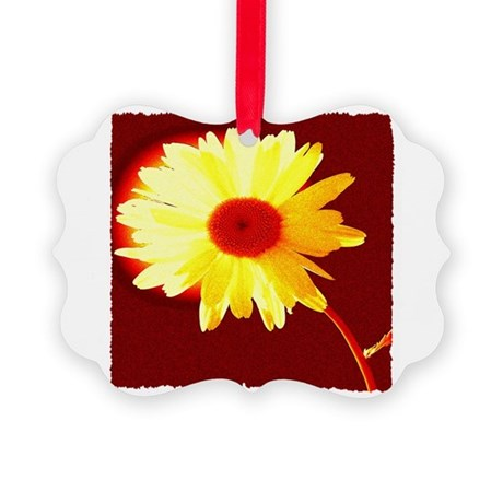 Hot Daisy Picture Ornament