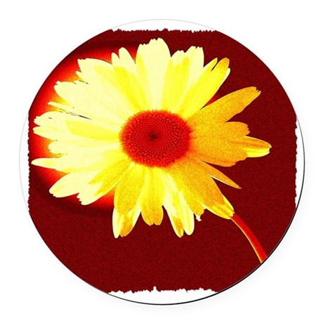 Hot Daisy Round Car Magnet