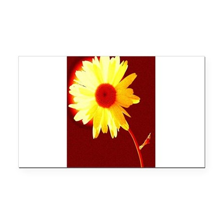 Hot Daisy Rectangle Car Magnet