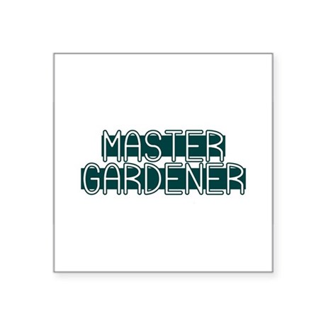 "Master Gardener Square Sticker 3"" x 3"""