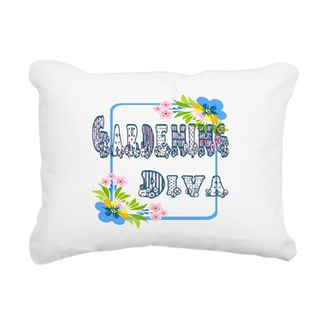Gardening Diva Rectangular Canvas Pillow