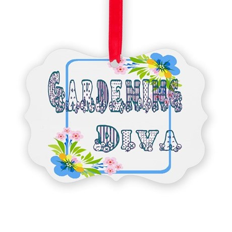 Gardening Diva Picture Ornament