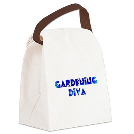 Gardening Diva Canvas Lunch Bag