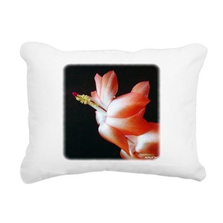 Christmas Cactus Rectangular Canvas Pillow
