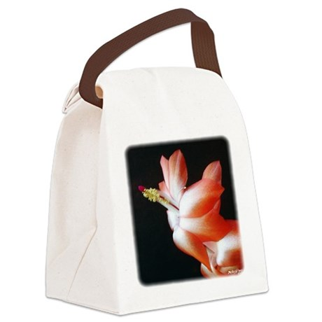 Christmas Cactus Canvas Lunch Bag