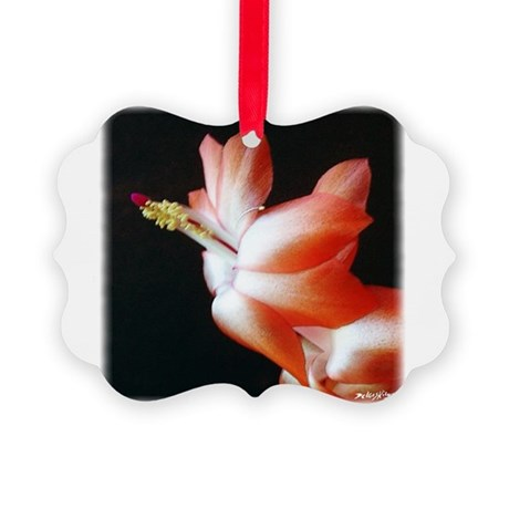 Christmas Cactus Picture Ornament