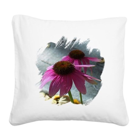 Windflowers Square Canvas Pillow