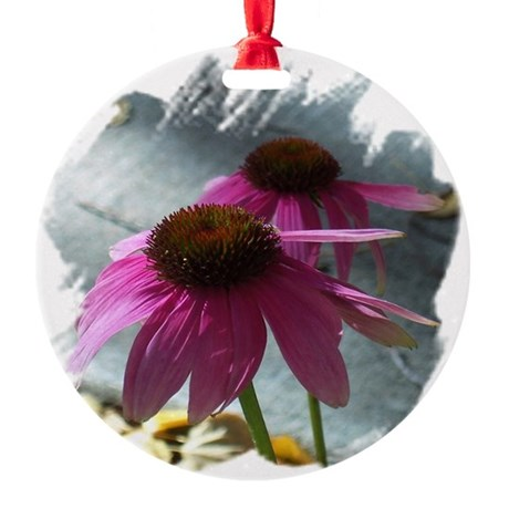 Windflowers Round Ornament