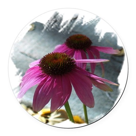 Windflowers Round Car Magnet