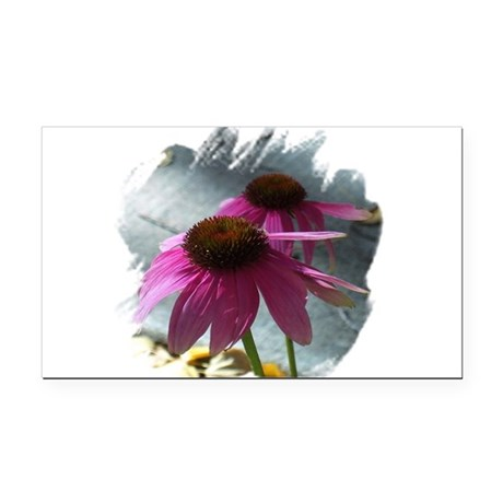 Windflowers Rectangle Car Magnet