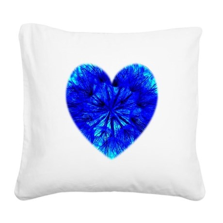Heart of Seeds Square Canvas Pillow