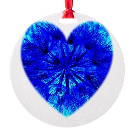Heart of Seeds Round Ornament