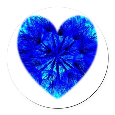 Heart of Seeds Round Car Magnet