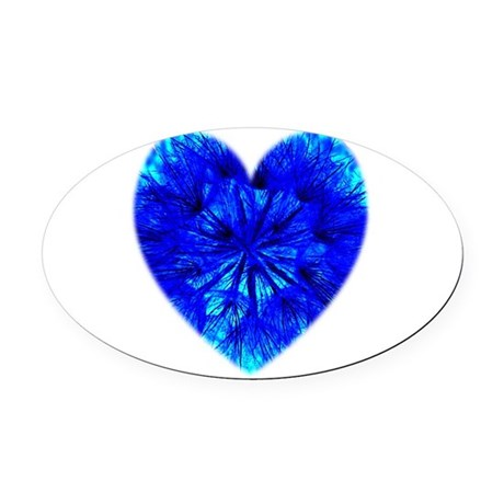 Heart of Seeds Oval Car Magnet