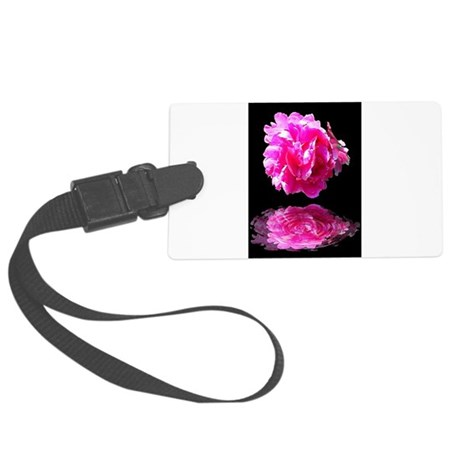 Peony Reflections Large Luggage Tag