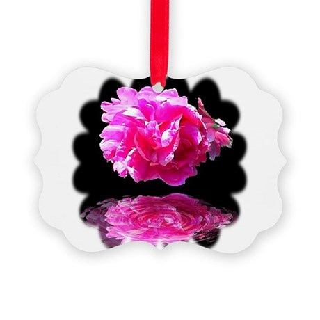 Peony Reflections Picture Ornament