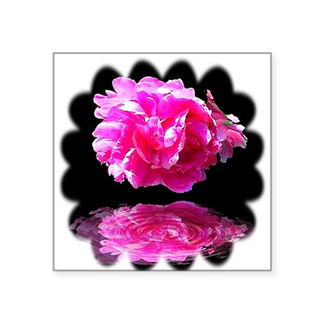 "Peony Reflections Square Sticker 3"" x 3"""