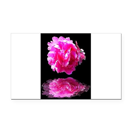 Peony Reflections Rectangle Car Magnet