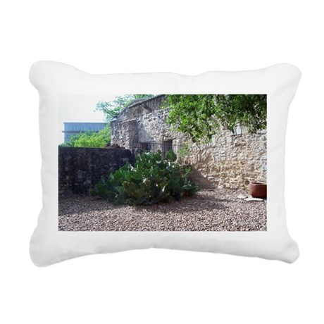 Corner Cactus Rectangular Canvas Pillow