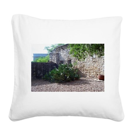 Corner Cactus Square Canvas Pillow